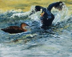 Ducks on Pond 1 - SOLD
