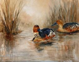 Ducks on Pond 4 - SOLD